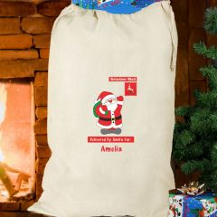 Personalised Father Christmas Cotton Sack