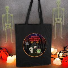 Personalised Halloween Black Cotton Tote Bag