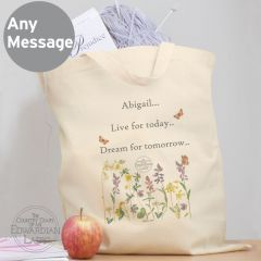 Personalised Country Diary Wild Flowers Cotton Tote Bag