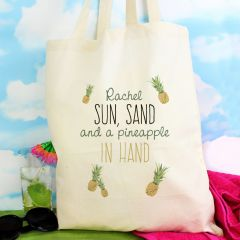 Personalised Pineapple Cotton Tote Bag