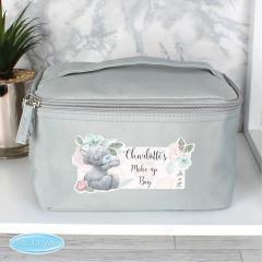 Me To You Personalised Floral Grey Make Up Wash Bag