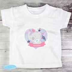 Personalised Girl's Tiny Tatty Teddy T-shirt 1-2 Years