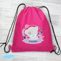Personalised Me To You Pink Drawstring Bag