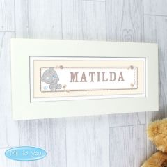 Personalised Tiny Tatty Teddy Bear Name Frame