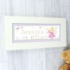 Personalised Garden Fairy Name Frame