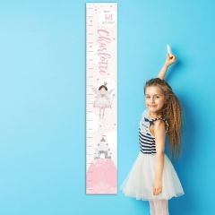 Personalised Fairy Princess Childrens Height Chart