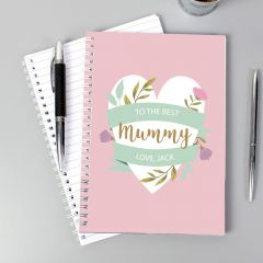 Personalised Floral Mother's Day Notebook