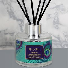Personalised Reed Diffuser with Peacock Design