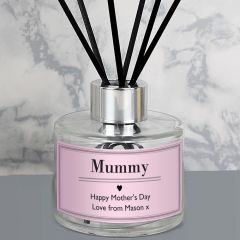 Personalised Classic Design Pink Reed Diffuser