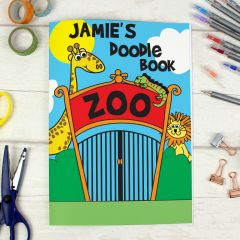 Personalised Zoo Design Scrapbook A4