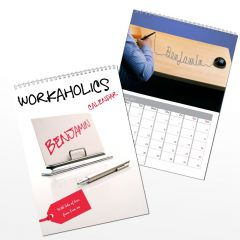 Personalised Workaholics Wall Calendar A4