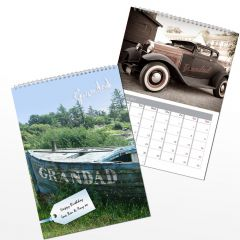 Personalised Grandad Wall Calendar A4