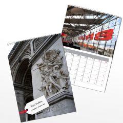 Personalised Big Buildings Wall Calendar A4