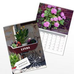 Personalised Gardeners Wall Calendar A4
