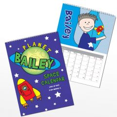 Personalised Space Wall Calendar A4