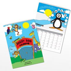 Personalised Zoo Wall Calendar A4