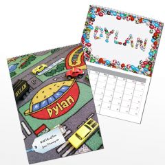 Personalised Younger Boys Wall Calendar A4