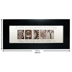 Personalised Affection Art Design Daddy Small Frame