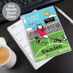 Personalised Bang on the Door Football Crazy Diary