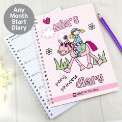 Personalised Bang on the Door Pony Girl Diary