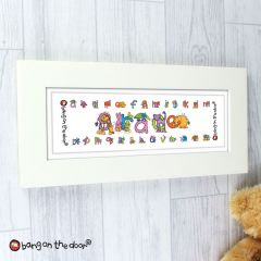 Personalised Bang On The Door Animal Alphabet Letter Girls Name Frame