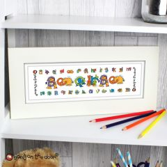 Personalised Bang On The Door Animal Alphabet Letter Boys Name Frame