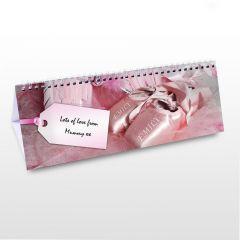 Personalised Little Princess Design Desk Calendar