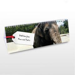 Personalised Zoo Motif Desk Calendar