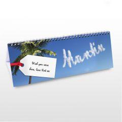 Personalised Holiday Design Desk Calendar