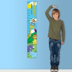 Personalised Zoo Childrens Height Chart