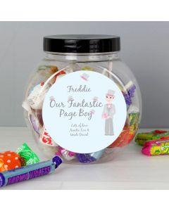 Personalised Fabulous Usher Round Sweet Jar Gift