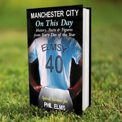 Personalised Manchester City Events On This Day Book
