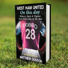 Personalised West Ham Events On This Day Book