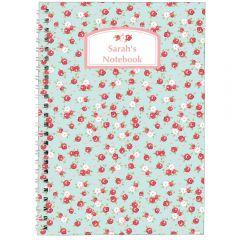 Personalised Vintage Floral Notebook