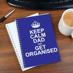 Personalised Keep Calm Blue Notebook
