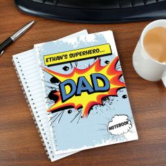 Personalised Comic Book Themed Notebook