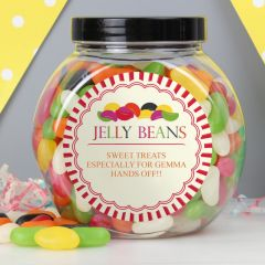 Personalised Jelly Beans Sweet Jar Gift