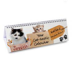Personalised Your Cat-tastic Design Desk Calendar