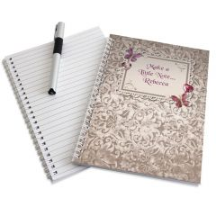 Personalised Butterfly Gem Notebook