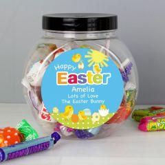 Personalised Easter Chick Sweet Jar Gift