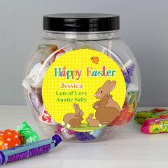Personalised Easter Bunny Sweet Jar Gift