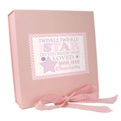 Personalised Twinkle Design Girls Pink Gift Box