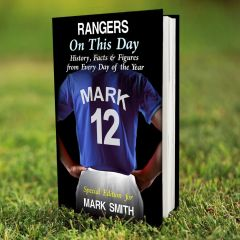 Personalised Rangers Events On This Day Book
