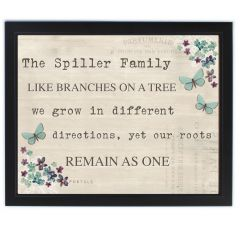 Personalised Forget Me Not Black Framed Poster Print