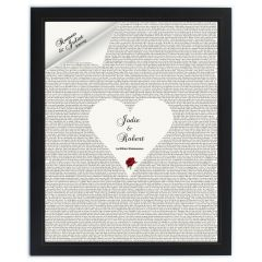 Personalised Romeo & Juliet Black Framed Poster Print