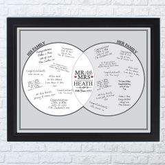 Personalised Mr & Mrs Black Signing Frame