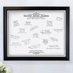 Personalised Occasion Black Signing Framed Picture