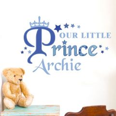 Personalised Our Little Prince Wall Art Decoration