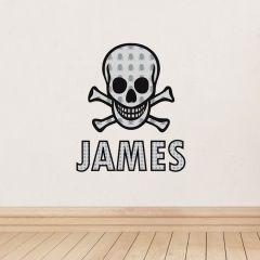 Personalised Skull & Bones Wall Art Decoration