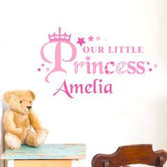 Personalised Our Little Princess Wall Art Decoration